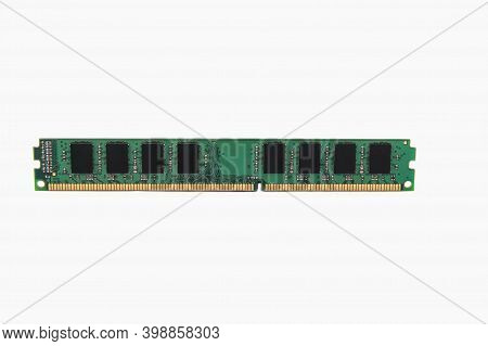 Ram For Pc, Isolated On White. Memory Module