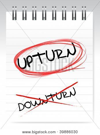 Upturn, Crossed Out The Word Downturn