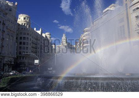 Spain Valencia Plaza Del Ayuntamiento