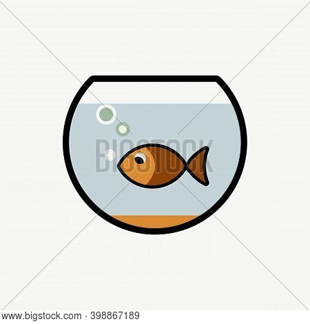 Fish Bowl Icon Isolated On White Background From Pets Collection. Fish Bowl Icon Trendy And Modern F