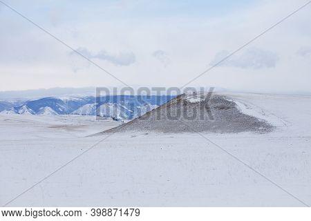 Olkhon Island Winter Landscape. Irkutsk Region, Russia