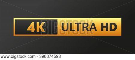Modern Tv Full Hd 4k, Great Design For Any Purposes. Set Technology Signs. Vector Illustration.