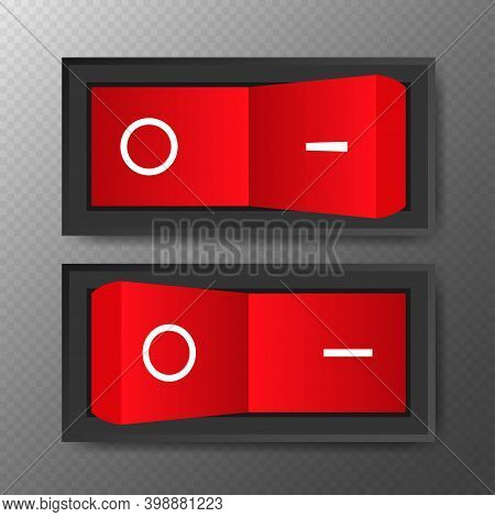 Switch, Great Design For Any Purposes. Web Icon Set. Realistic Vector Illustration.