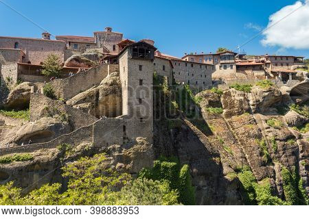 The Monastery Of Great Meteoron, The Largest Of The Monasteries Located At Meteora, Greece. It Was E
