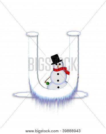 Alphabet Frosty Uu