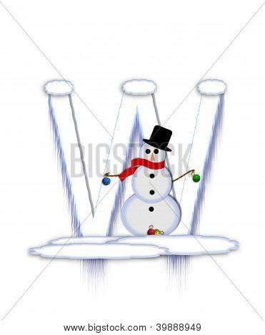 Alphabet Frosty W