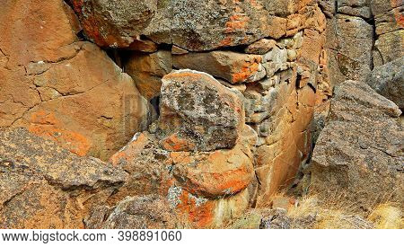 Solid Rock In The Desert - A Scenic Rock Formation At Buckhorn Rim - West Of Redmond, Or