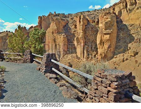 At The Place Called Smith - A Springtime View In The Canyon At Smith Rock State Park - East Of Terre