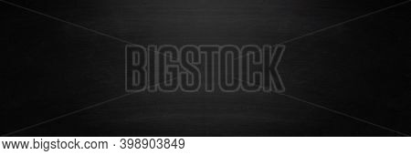 Horizontal Dark Black Board Or Chalkboard With Copy Space Background