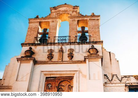 Traditional Cathedral building in Sevilla city, Spain