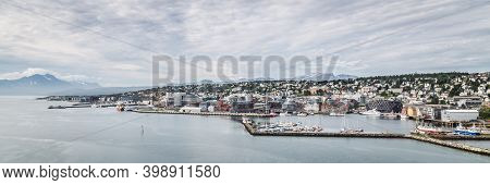 Skyline Of The Center Of Tromso In Norway
