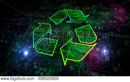 Recycling Electro-waste Symbol 3D Illustration