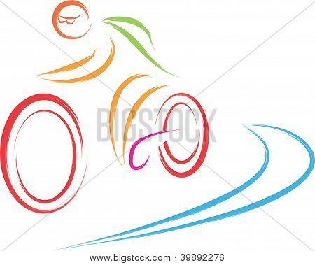bike cycling logo