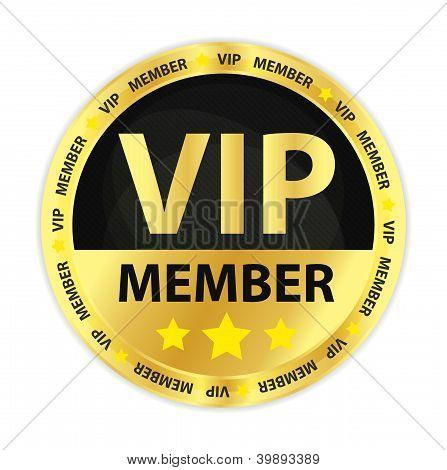 Vip Member Golden Badge