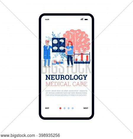 Onboarding Screen Design For Neurology Medical Care And Diseases Of Human Brain And Nervous System,