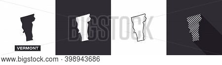 State Of Vermont. Map Of Vermont. United States Of America Vermont. State Maps. Vector Illustration