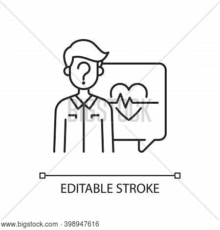 Anonymous Question Linear Icon. Health And Medical-related Questions. Chatting With Doctor Online. T