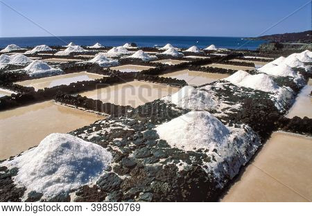 Sea Salt Production In Fuencaliente At La Palma A Vulcanic Island And One Of The Canary Islands