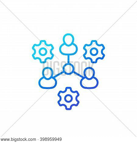 Cooperation, Combined Effort Line Icon, Eps 10 File, Easy To Edit