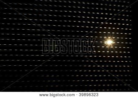 Backlight From The Sun Over The Blinds