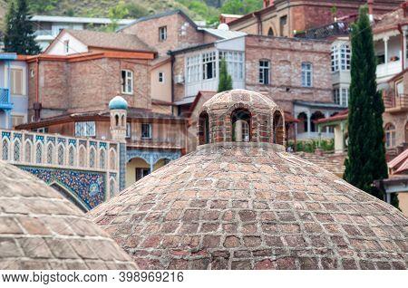 Sulfur Baths In The Abanotubani District In Tbilisi.