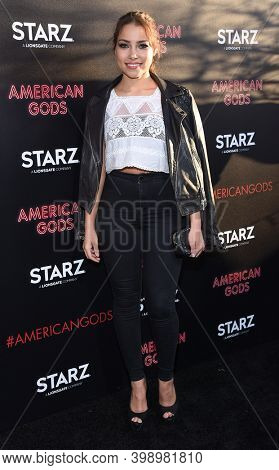 LOS ANGELES - APR 20:  Jessica Parker Kennedy arrives for  Starz' 'American Gods' Premiere on April 20, 2017 in Hollywood, CA
