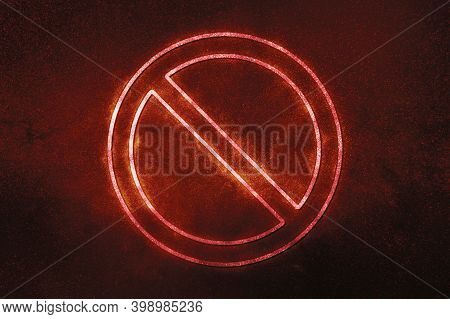No Sign Or No Symbol, Prohibition And Restriction, Censorship,red Symbol, Space Background