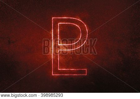 Symbol Of Pluto, Pluto Sign, Astrology Pluto Planet,red Symbol, Space Background