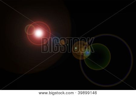 Lens Flare Artistic Background