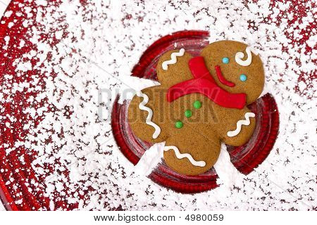 Gingerbread Snow Angel