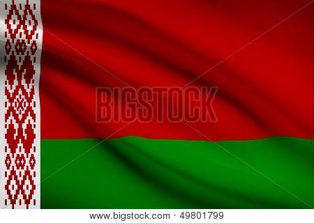 Series Of Ruffled Flags. Belarus.
