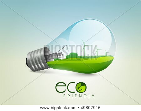 Ecological energy concept.
