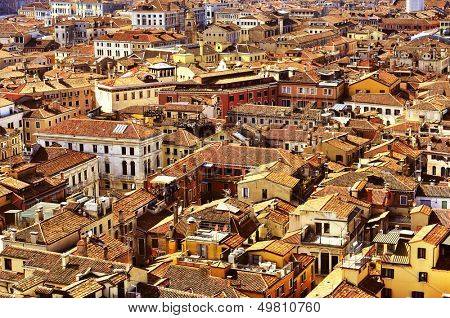 aerial view of the sestiere of San Marco in Venice, Italy