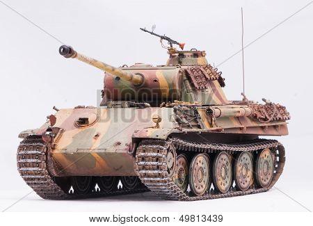 "German tank ""Panther"" in World War II at white background poster"