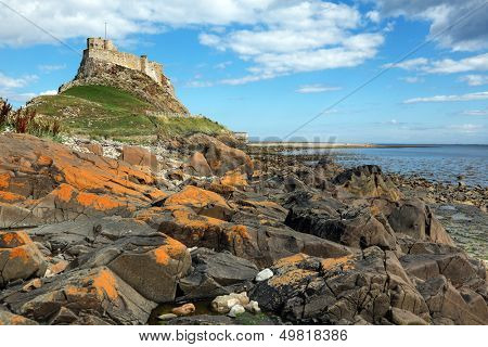 Lindisfarne castle on the Holy Island, Northumberland, England