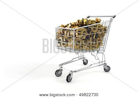Cart With dollar symbol