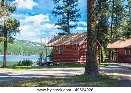 Resort Log Cabins on Lake