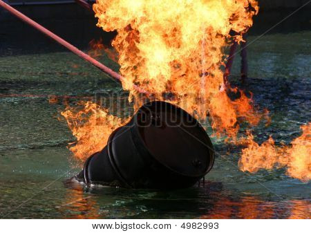 Barrel Of Oil On Fire