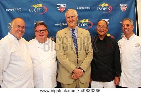 Celebrity chefs David Burke, Tony Mantuano , Masaharu Morimoto and Jim Abbey