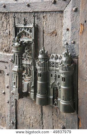 medieval door lock
