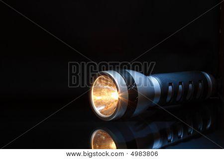 Flashlight In Dark