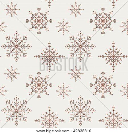 Decoration snowflakes seamless background.