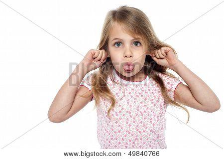 Fun Loving Girl Child Making Faces