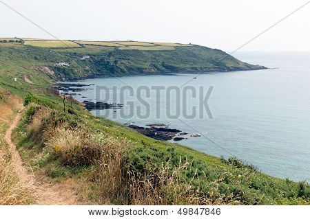 South West coast path Whitsand bay Cornwall