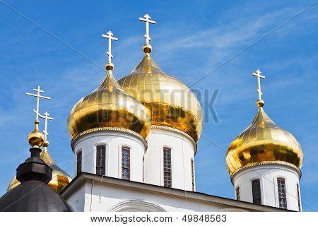 Golden Cupola Of Russian Church