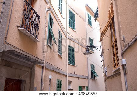 Architectural Detail in Cinque Terre Region of Italy