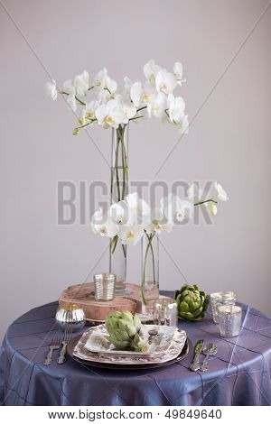 Rustic Vintage Reception Table Setting