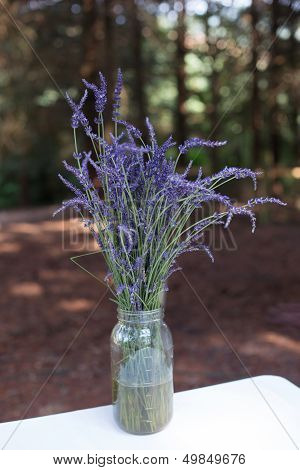 Mason Jar with Lavender