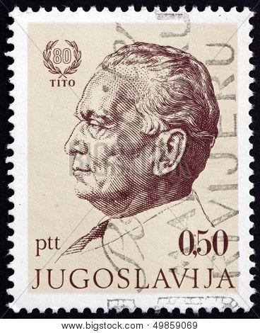 Postage Stamp Yugoslavia 1972 Marshal Tito By Jakac