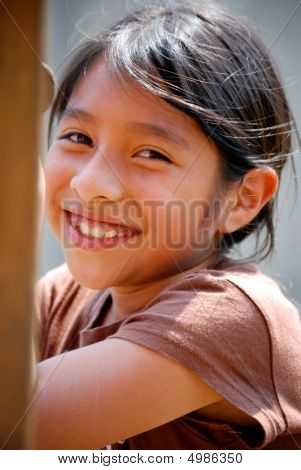 Beautiful Hispanic Girl Smiling
